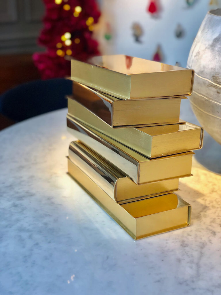 Stack of gold books